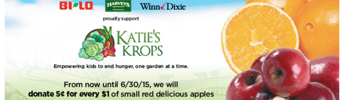 Help support Katie's Krops from now until June 30 at your local BI-LO or Winn-Dixie!!